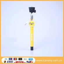 innovative and creative product Animal Cartoon selfie stick extendable baton plastic selfie stick monopod for gift item