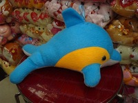 Claw machine stuffed plush blue dolphin toy / vending machine soft animal dolphin