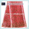 2015 yifangbo 100% poliéster rendas guipure/africano vestido feito com tecido