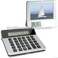 Desktop calculadora digtial photo frame com/lcd despertador/calculadora multifuncional