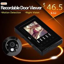 Clear HD image 3.0 inch door eye piece / yale electronic door viewer / peep hole camera