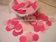 White red pink paper confetti, multi color mix paper confetti,throwing confetti