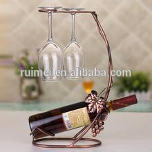 popular metal cusomized hanging wine glass rack