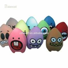 hot sale latest design colorful egg cute cushion emoji pillow