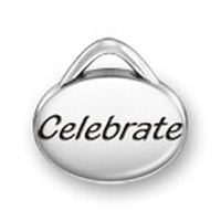 Free Shipping Fashion Antique Silver Oval Celebrate Word Charms Accepted Mixed Sale