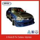CAR REAL CARBON FIBER HOODS COVER FOR SUBARU IMPREZA 8/IMPREZA 9/IMPREZA 10 2002-2007