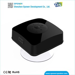 Portable wireless bluetooth shower speaker bathroom accessory with cube handsome design