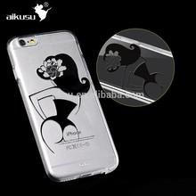 3D sublimation plastic mobile phone case jacket for iphone 6