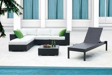 2015 Bella Garden SGS Certified black big corner Sectional Sofa Lounge Rattan Outdoor Furniture