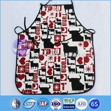 animal design bull/ cheap cotton kitchen cooking BBQ apron