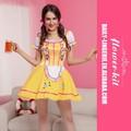 naughty quente vendendo mangas curtas amarelo cerveja sexy menina fantasia para o carnaval