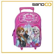 Sandoo alibaba china popular frozen wheeled school bag for girls