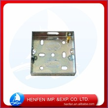 Conduit fitting pre-galvanized switch and socket steel square switch boxes