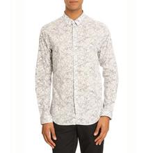 White flecked slim fit stylish casual shirts