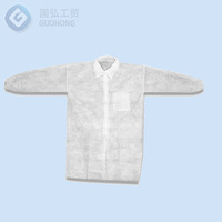 Wholesale working nonwoven disposable smock with velcro