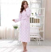 Popular terry cotton women sexy romantic sleepwear