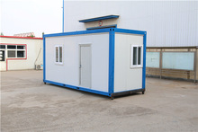 convenient sample two bedroom shipping portable flat pack prefab container with toilet