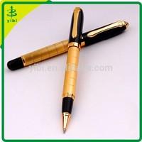 JD-Lp32 Branded logo Luxury gold heavy metal ballpoint pen