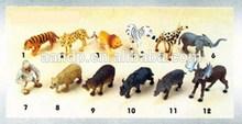 3-5 inch wild animals