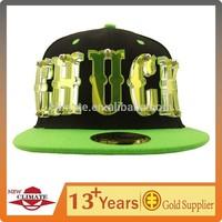 Amazing customize acrylic logo snapback cap with person's name,coca cola audit