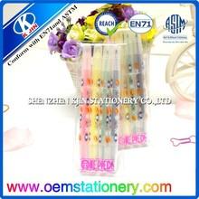 2015 brilliant color Highlighter marker pen for school & office use