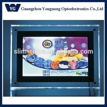 LED crystal display board, led poster frames 24x36, 24x36 led acrylic frame