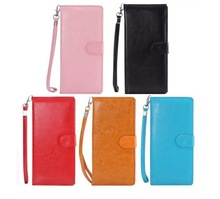 Universal Mobile Phone Wristlet Wallet Leather Case Cover Bag Pouch Up to 5 inch
