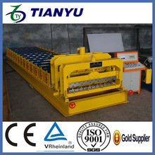 Building construction glazed types of roof tiles making machine
