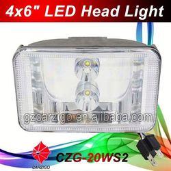 "alibaba china factory price head lamp 6""X4 for motorbike"