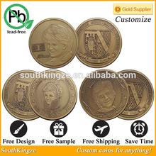 Metal bronze 1961-1997 Diana souvenir coins
