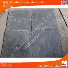 Black slate with smooth surface interlocking paving ston slate tiles