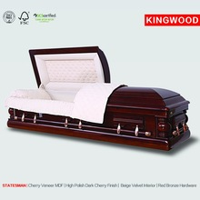 STATESMAN Full Couch Wood Casket Beds antique furniture