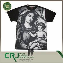 Men's Madonna Sublimation T-Shirt Hip Hop style Black Street Wear