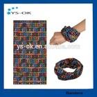 Customized stretchable seamless tube sports bandanas