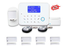 Quick medical alarm, fire alarm and burglary alarm on the panel, smart gsm alarm system with camera wifi optional