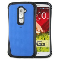 Excellent stylish hybrid rubber cell phone protective case for lg g2