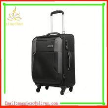 H704 Hot sale trolley luggage, cheap pvc leather nylon luggage bag