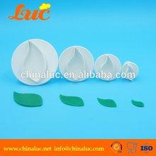 High quality fondant tool set of 4 leaf plunger cutters sugarcraft cake decorating