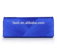 Blue Silk Cloth Fabric Simple Handmade Handbags Purses