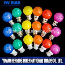 1w led bulb lights g45 e27 multi colored led light bulbs