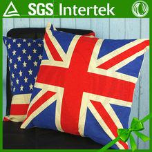 manufacturers custom flag pillowcase car cushion for leaning