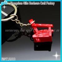 2015 Hot Sales OEM Mini Metal Chair Keychains Custom Red Chair Metal keyring GFT-KC94