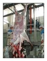 cattle peeling skinning machine slaughter line slaughterhouse