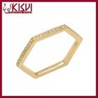 Fahion Square Diamond Silver Ring, Kisvi 925 Sterling Silver Jewelry Wholesale
