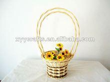2pcs natural wicker flower basket wedding decoration