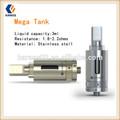 Característica premium ecigator atomizador e- cigarrillos karass 3ml mega del tanque de doble serpentines de calefacción de aire de la válvula de control vaporizador de la pluma