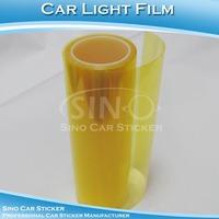 H8011 0.3*10M Adhesive Car Light Film Vinyl Yellow Car Headlight Film