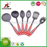 china cookware factory nylon names of kitchen utensils