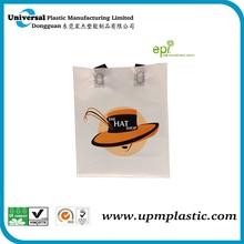 custom made hdpe plastic handle shopping bag