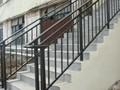 Inoxidables barandas de hierro forjado barandilla metálica escaleras al aire libre